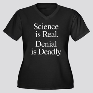 Science Is R Women's Plus Size V-Neck Dark T-Shirt