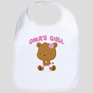 Omas Girl Baby Bear Baby Bib