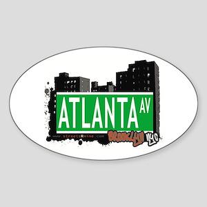 ATLANTA AVENUE, BROOKLYN,NYC Oval Sticker
