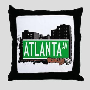 ATLANTA AVENUE, BROOKLYN,NYC Throw Pillow