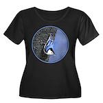 White-Br Women's Plus Size Scoop Neck Dark T-Shirt