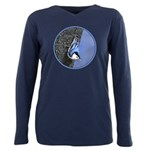 White-Breasted Nuthatch Plus Size Long Sleeve Tee