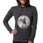Schnauzer Womens Hooded Shirt
