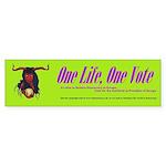 one life, one vote Bumper Sticker (50 pk)