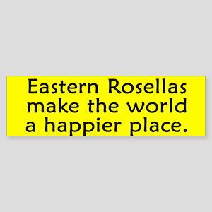 Happy Place Eastern Rosella Bumper Sticker