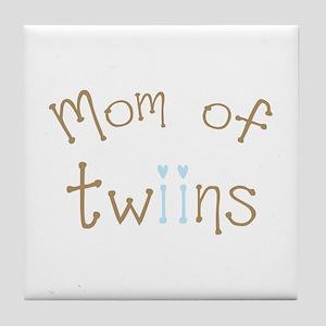 Mom of Twin Boys Tile Coaster