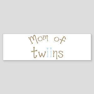 Mom of Twin Boys Bumper Sticker