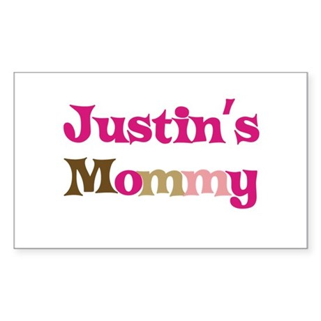 Justin's Mommy Rectangle Sticker