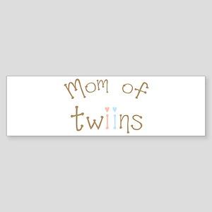 Mom of Twins Boy Girl Bumper Sticker