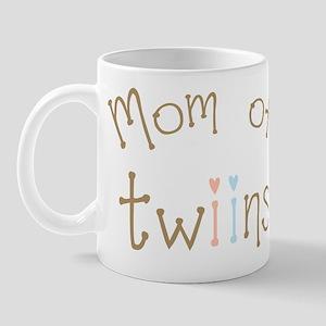 Mom of Twins Boy Girl Mug
