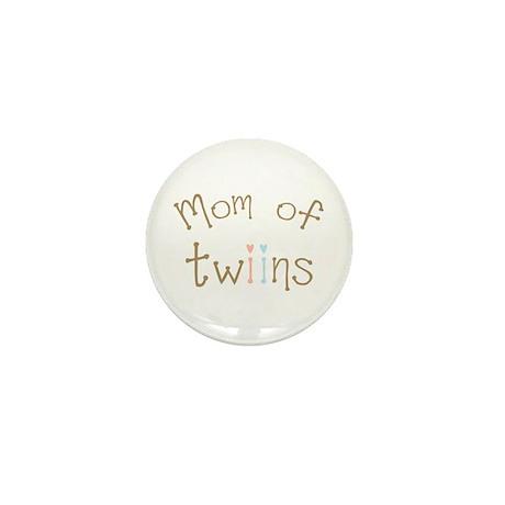 Mom of Twins Boy Girl Mini Button