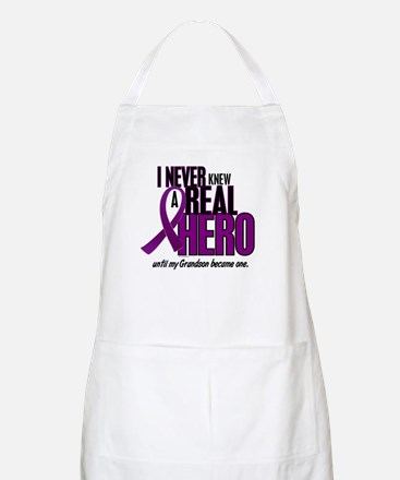 Never Knew A Hero 2 Purple (Grandson) BBQ Apron