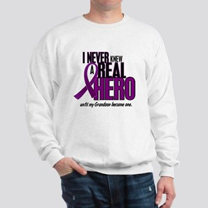 Never Knew A Hero 2 Purple (Grandson) Sweatshirt