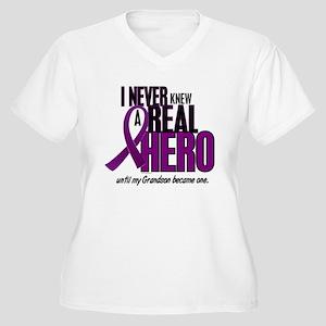 Never Knew A Hero 2 Purple (Grandson) Women's Plus