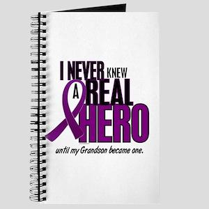 Never Knew A Hero 2 Purple (Grandson) Journal