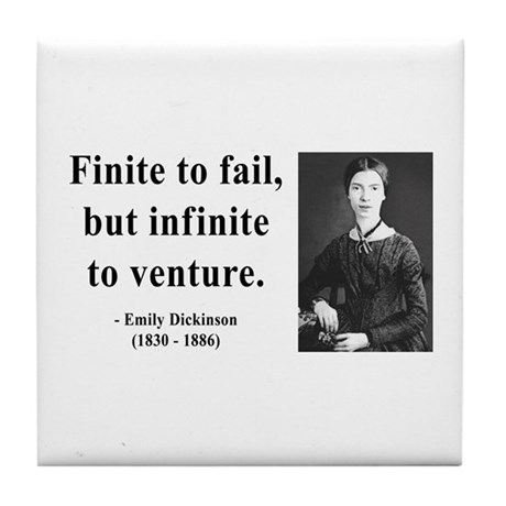 Emily Dickinson 8 Tile Coaster