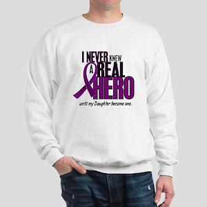 Never Knew A Hero 2 Purple (Daughter) Sweatshirt