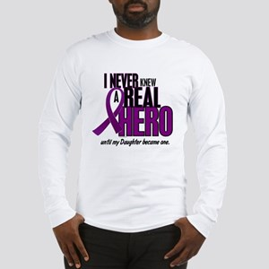 Never Knew A Hero 2 Purple (Daughter) Long Sleeve
