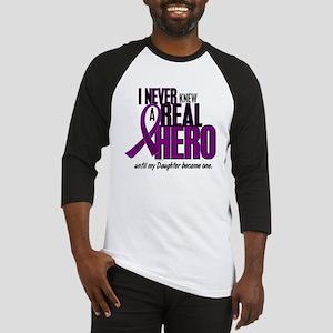 Never Knew A Hero 2 Purple (Daughter) Baseball Jer