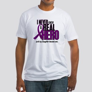 Never Knew A Hero 2 Purple (Daughter) Fitted T-Shi