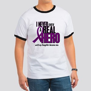 Never Knew A Hero 2 Purple (Daughter) Ringer T