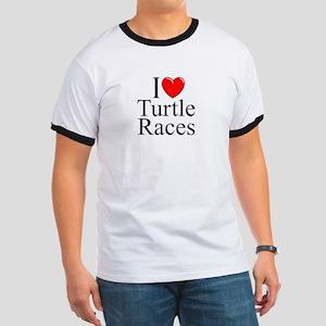 """""""I Love (Heart) Turtle Races"""" Ringer T"""