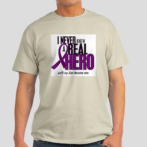 Never Knew A Hero 2 Purple (Son) Light T-Shirt