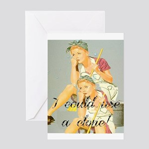 house cleaning humor Greeting Cards