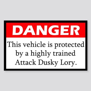 Danger Attack Dusky Lory Sticker
