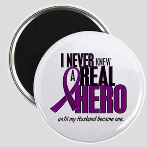 Never Knew A Hero 2 Purple (Husband) Magnet