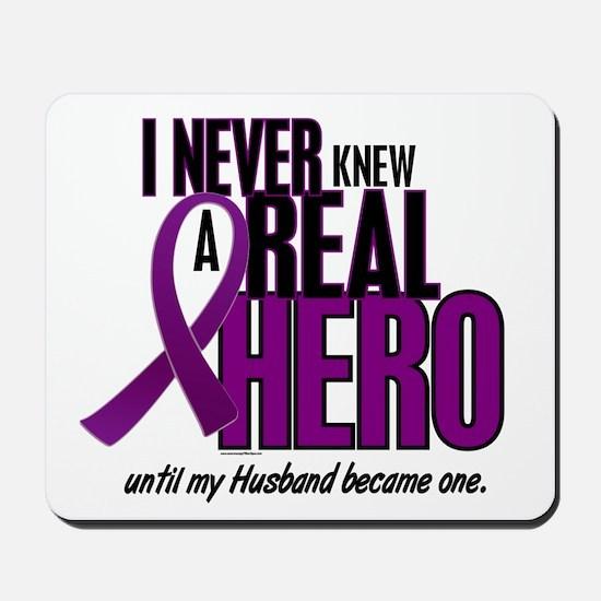 Never Knew A Hero 2 Purple (Husband) Mousepad