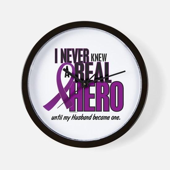 Never Knew A Hero 2 Purple (Husband) Wall Clock