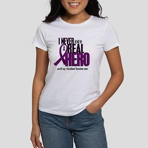 Never Knew A Hero 2 Purple (Husband) Women's T-Shi