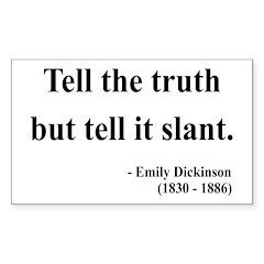 Emily Dickinson 5 Rectangle Decal