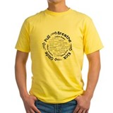 Breaststroke Mens Classic Yellow T-Shirts