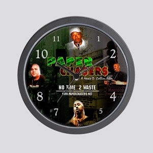The Paper Chasers Wall Clock
