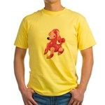 Pink Poodle Yellow T-Shirt