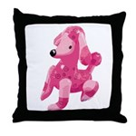 Pink Poodle Throw Pillow