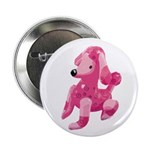 "Pink Poodle 2.25"" Button"