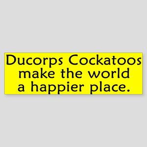Happy Place Ducorps Cockatoo Bumper Sticker