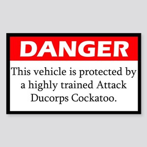 Danger Attack Ducorps Cockatoo Sticker