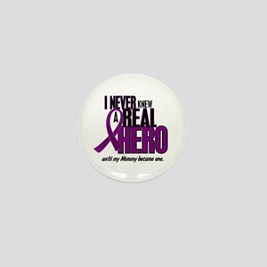 Never Knew A Hero 2 Purple (Mommy) Mini Button