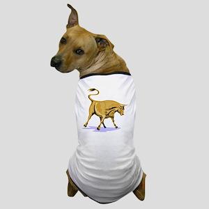 Raging Bull Attacking Retro Dog T-Shirt