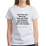 Different Mixed Text Procucts Women's T-Shirt
