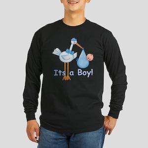It's a Boy! Stork Long Sleeve Dark T-Shirt
