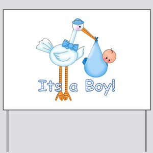 It's a Boy! Stork Yard Sign
