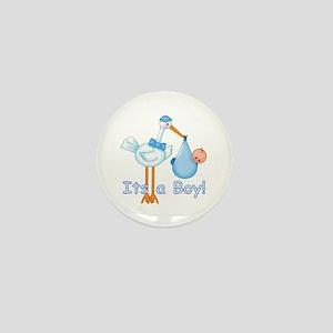 It's a Boy! Stork Mini Button