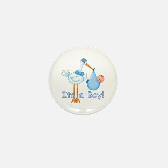 It's a Boy! Stork Mini Button