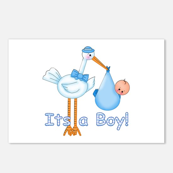 It's a Boy! Stork Postcards (Package of 8)