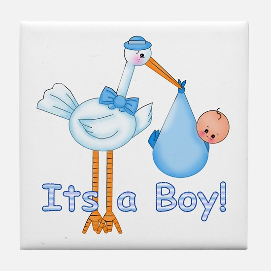 It's a Boy! Stork Tile Coaster